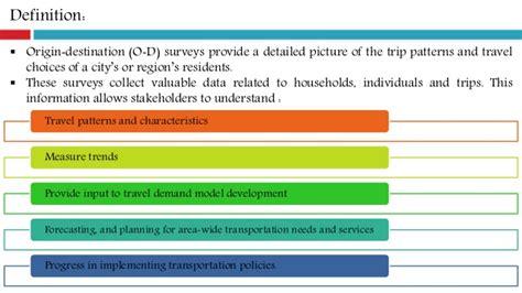 destination pattern exles origin destination survey