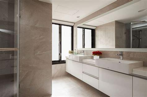 white floating bathroom vanity spacious bathroom with large floating vanity in white
