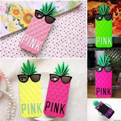 Iphone 7 Plus Rubber 3d Silikon Soft Cover Casing Motif Iron colorful pineapple pink silicone 3d cover for iphone 5 5s 4s ebay