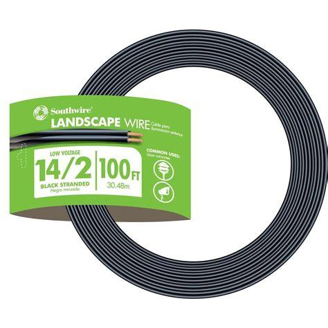 14 landscape wire southwire 100 ft 14 2 black stranded low voltage