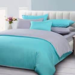 Silk Duvet Reviews Lakeblue And Gray Duvet Cover Solid Bedding Mercerized