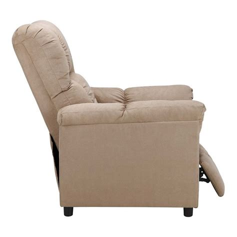 slim rocker recliner slim microfiber recliner in beige wm3451r