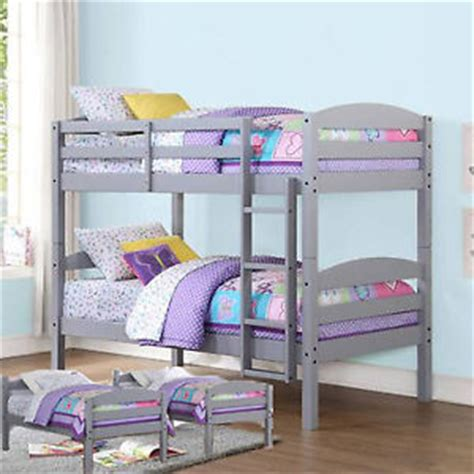 girls twin loft bed twin bunk beds gray wood kids bed bedroom furniture ladder