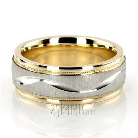 wedding band designs wave design milgrain wedding band tt233 14k gold