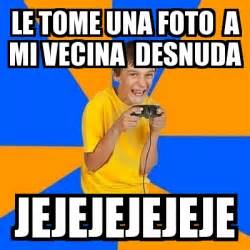 Kid Gamer Meme - meme annoying gamer kid le tome una foto a mi vecina
