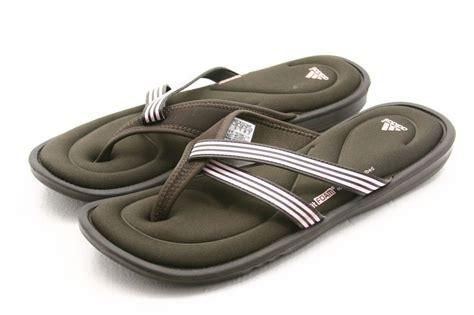 adidas womens shoes size 11 fit foam memory flip flops sandals brown pink