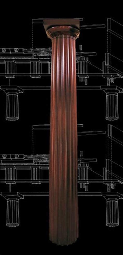 wood columns mahogany stain grade fluted doric