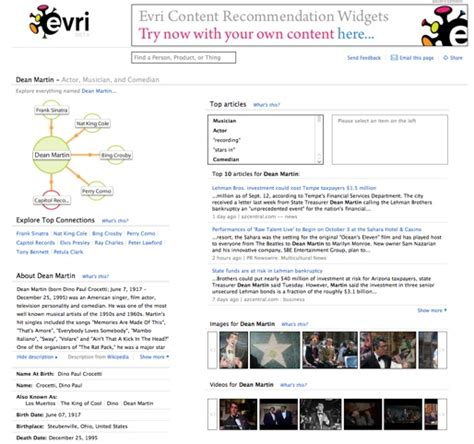 Evri Search Evri Unleashes An Open Beta But Falls On Results Techcrunch