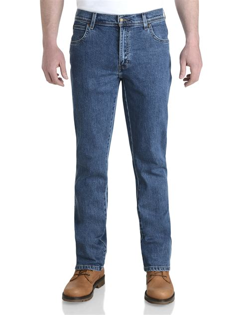 Wrangler Standart Garment wrangler durable stretch denim regular fit rinsewash darkstone stonewash ebay