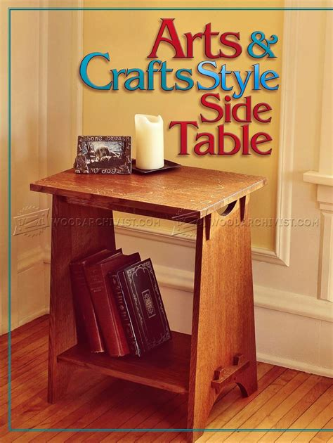 arts and crafts desk art and crafts style plans woodarchivist