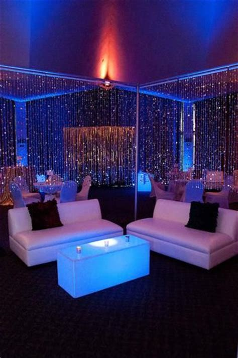 studio 54 decor silver curtains and mod club furniture