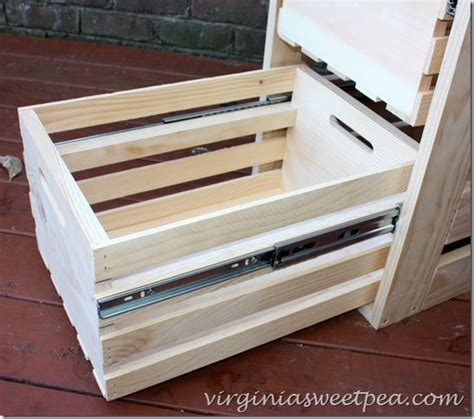 sliding drawers for cabinets diy crate cabinet with sliding drawers sweet pea