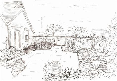 garten zeichnung garden sketch ideas cox garden designs