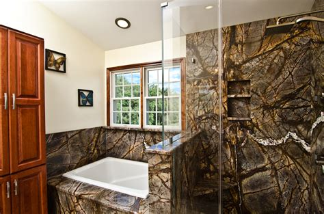 rainforest bathroom cover the bathroom in granite rainforest brown juperana