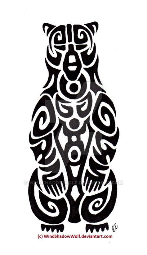 bear tribal tattoo american totem