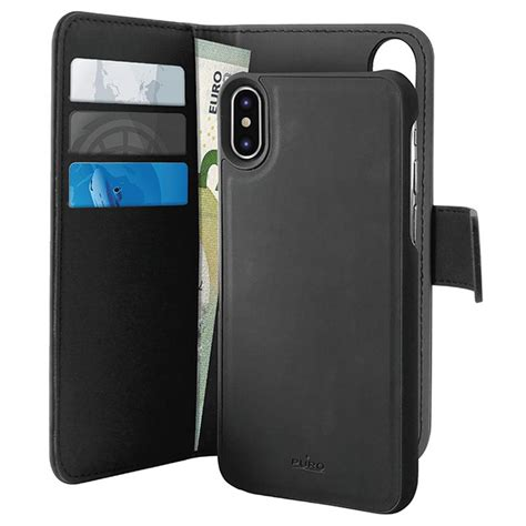puro    iphone xs max magnetic wallet case black