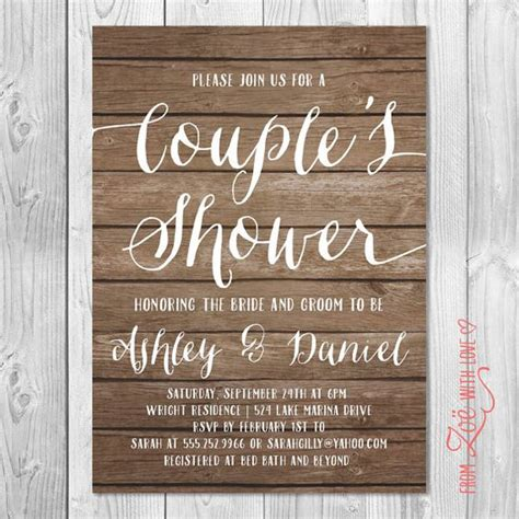free couples bridal shower rustic couples shower invitation printable shabby chic boho neutral wood grain shabby the