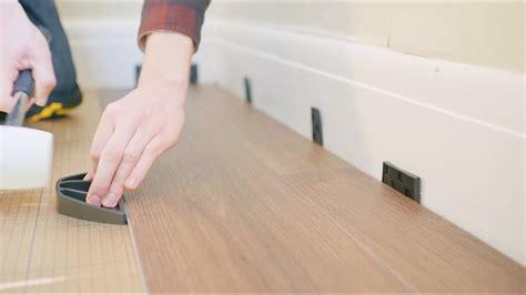 how to fit luxury vinyl click flooring youtube