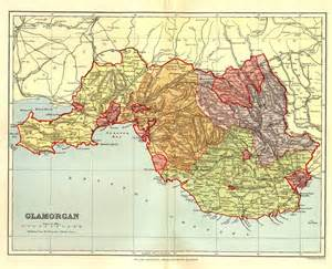 of cus map map of glamorgan