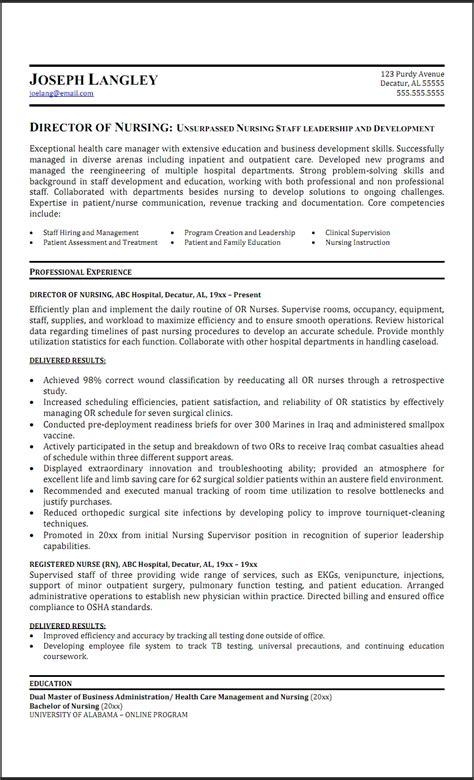 sle assistant director of nursing resumes regarding inspire resume template