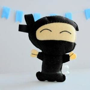 felt ninja pattern felt ninja toy sewing pattern small hand puppet a1092 on