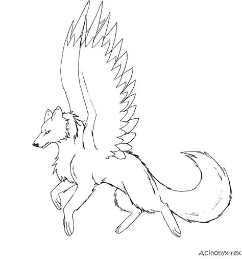 winged wolf coloring page winged wolf by acinonyx rex on deviantart