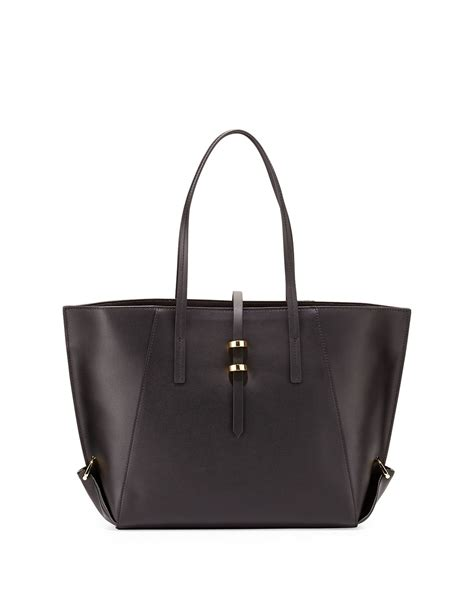 Log In To Win Fabsugars Zac Posen Handbag Giveaway by Zac Zac Posen Eartha Leather Mini Shopper Tote Bag In