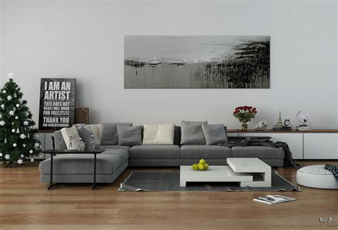 Gray Modular Sectional Sofa Interiors With And Rustic Accents