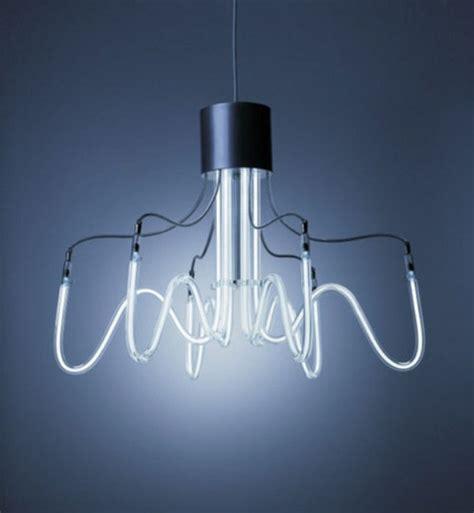Industrial And Minimalist Neon Chandeliers Digsdigs Minimalist Chandelier