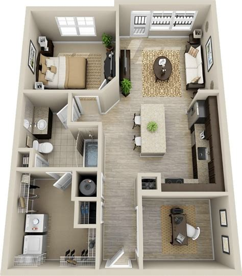 small one bedroom apartment floor plans google search 50 plans en 3d d appartement avec 1 chambres