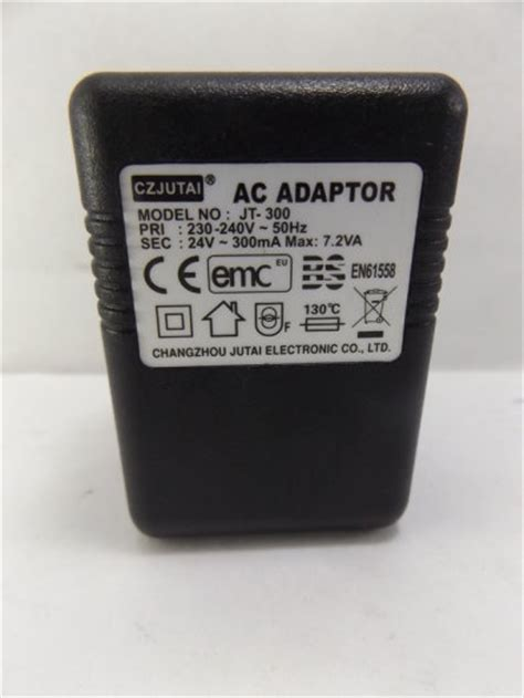 czjutai ac adaptor model jt 300 input 230 240v 50hz output