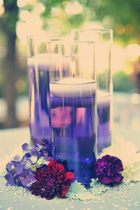 Floating Candles   Colored   Purple food, Water and