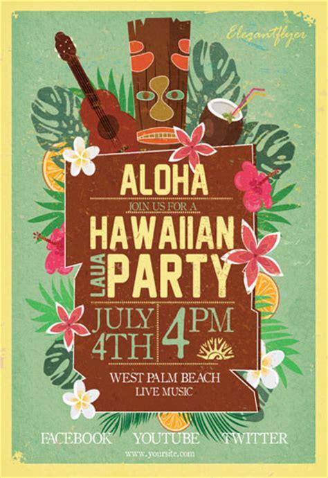 Laua Party Flyer Psd Template By Elegantflyer Free Hawaiian Luau Flyer Template