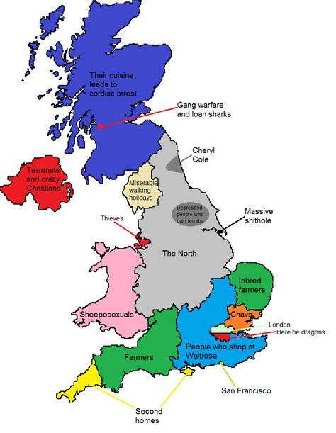 Search In Great Britain How Londoners View The Rest Of The Uk Or Why The Rest Of The Uk Hates Brilliant Maps