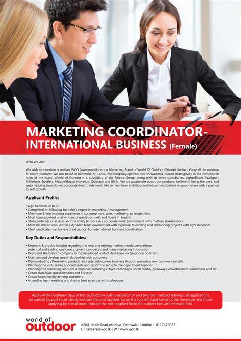 International Mba Marketing by Marketing Coordinator International Business Females