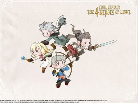 four heroes of light cool pose four heroes of light rpg verse