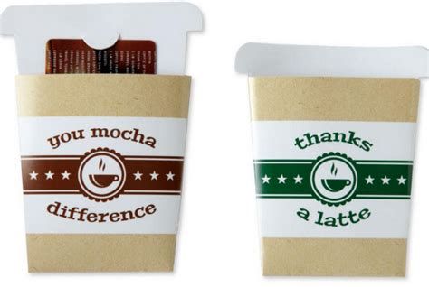 Coffee Gift Card Holder - cash vs gift cards when to gift and to whom