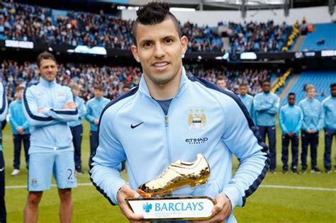 epl awards sergio aguero wins the premier league golden boot mirror