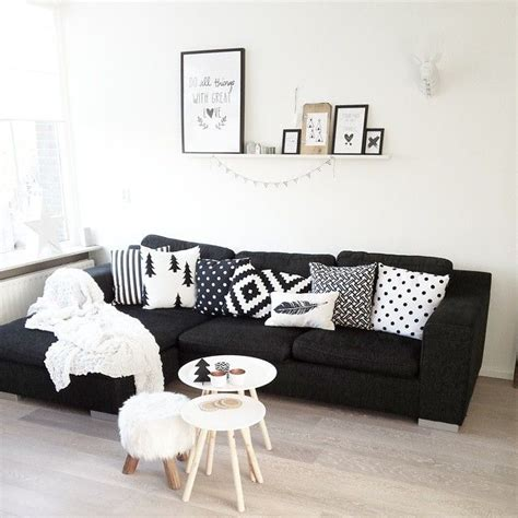 white and black couch best 25 black couch decor ideas on pinterest black sofa