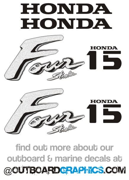 Honda Four Stroke Aufkleber by Honda 15hp Four Stroke Outboard Engine Decals Sticker Kit