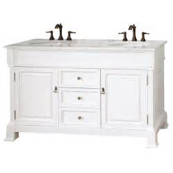 60 Bathroom Vanity Top Shop Bellaterra Home White Rub Edge 60 In Undermount