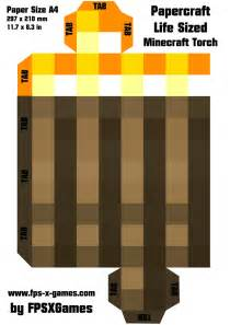 minecraft papercraft templates printable papercraft cut out minecraft sized torch