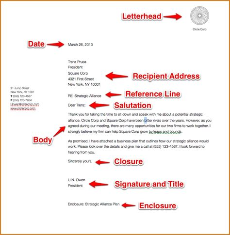 Business Letter Diagram Exle Of A Formal Business Letter Cover Letter Templates