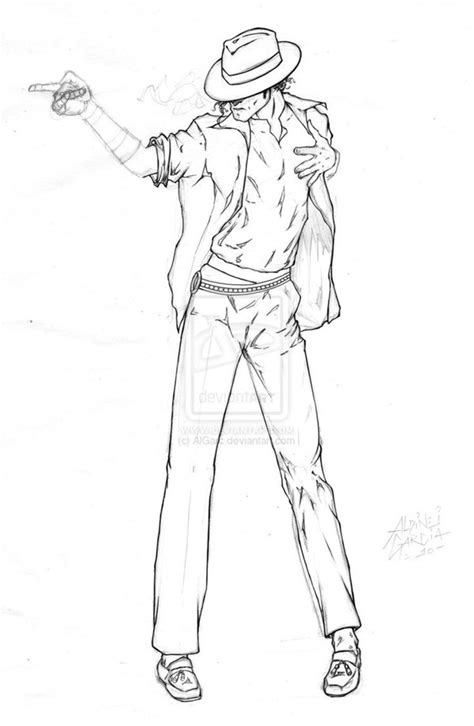Michael Jackson Coloring Pages Sketch Page sketch template