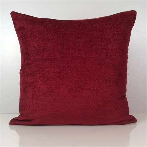 Burgundy Pillows Decorative by Bright Burgundy Pillow Throw Pillow Cover Decorative Pillow