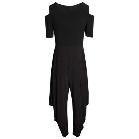 Harem Style harem style cold shoulder jumpsuit by frank lyman at walk