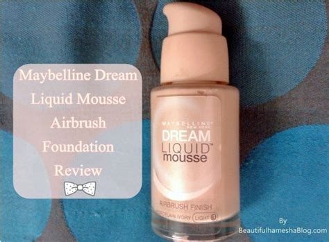 Maybelline Gel Foundation maybelline liquid mousse airbrush foundation review