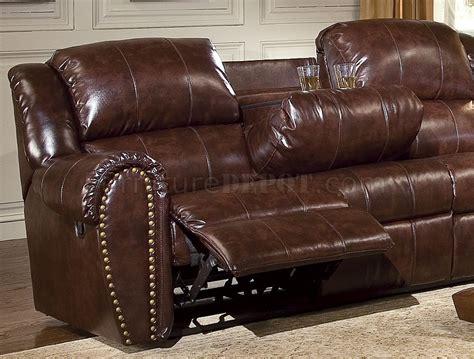 cognac leather reclining sofa cognac brown bonded leather sofa chair set w reclining seats
