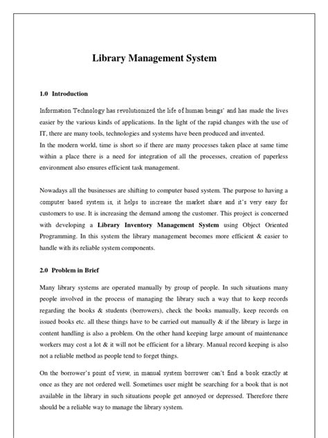 Sle Thesis Chapters About Database System by Exle Of Thesis For Library System