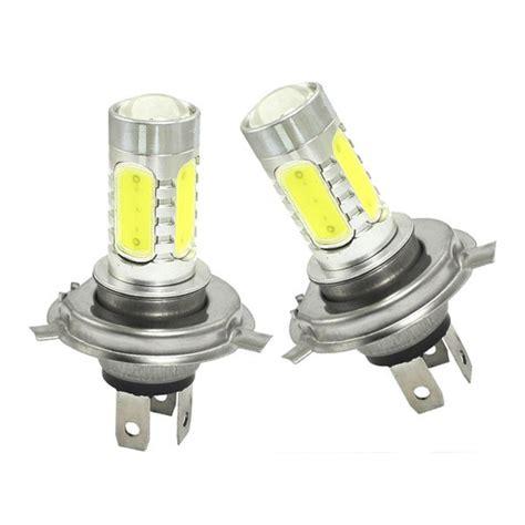 H4 White Led Fog Light 7 5w 2x 7 5w led bulbs headlight h4 fog l light 12v replace